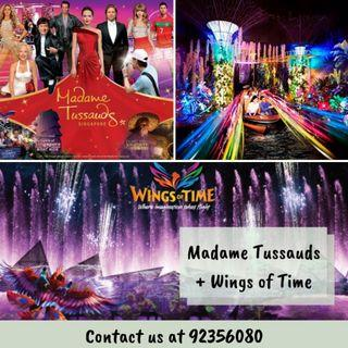 [COMBO] Madame Tussauds + Images of Singapore + Boat Ride + Wings of Time