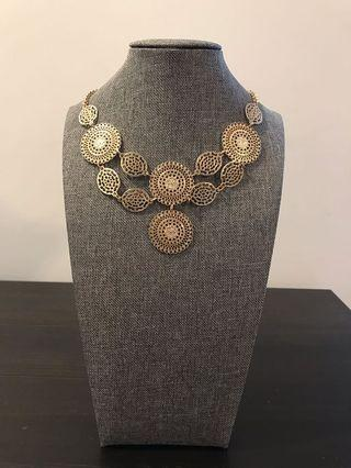 Gold Plated Cute Bib Necklace