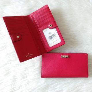 Katespade stacy wallet red