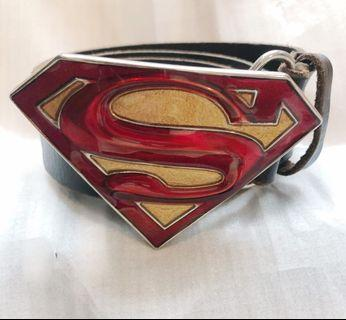 Superman Buckled Belt
