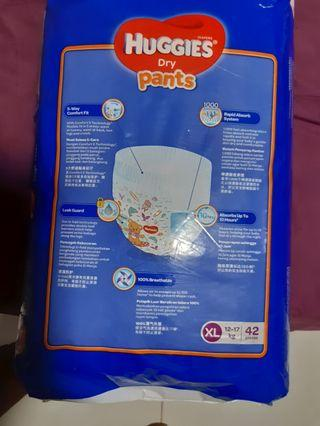 🚚 Huggies Dry pants diapers 12-17kg XL 42pcs 2sets
