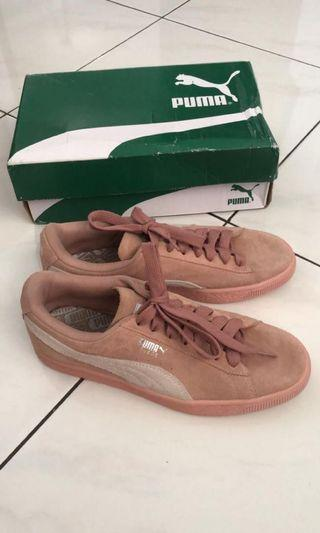 Puma Pink Suede Shoes