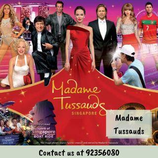 Madame Tussauds + Images of Singapore + Boat Ride