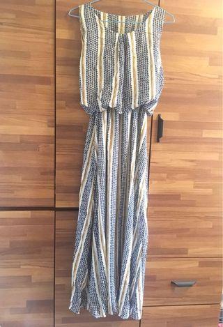 🚚 夏季無袖縮腰長洋裝