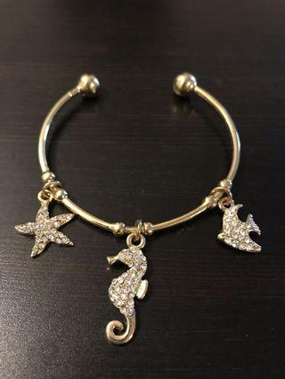 Gold Plated Charm Bracelet