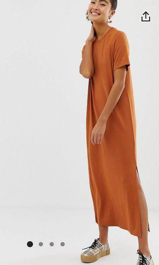 Monki split maxi dress