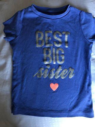 Big Sister T-Shirt Size 3T