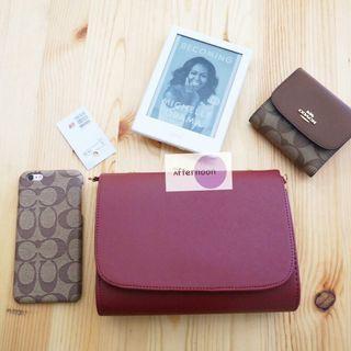 H&M Slingbag / Clutch Maroon