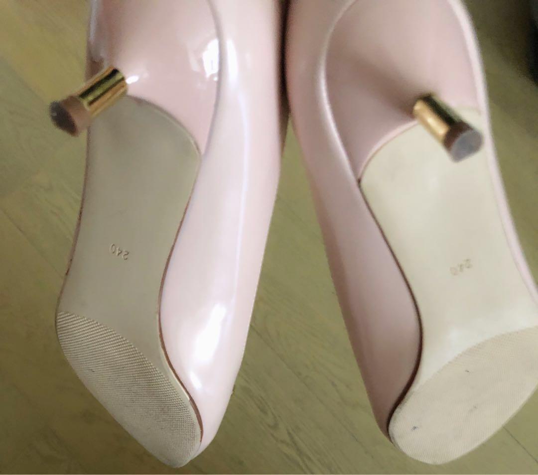 靚靚西裝外套(返工+典禮必備,穿少於10次,9成新)(粉紅色高跟240號鞋)