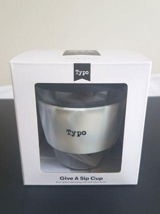 BRAND NEW White Marble Glass Keep Cup - Typo