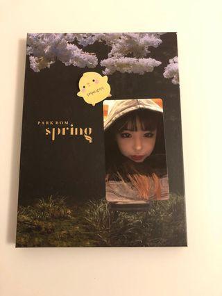 park bom spring album w photocard