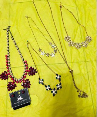(Free postage) All for one price necklace preloved