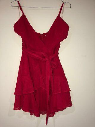 Red Meshki dress