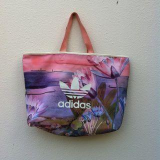 Genuine Adidas PVC floral shoulder bag.  In good condition. Dimension 53 x 36 x 15cm.