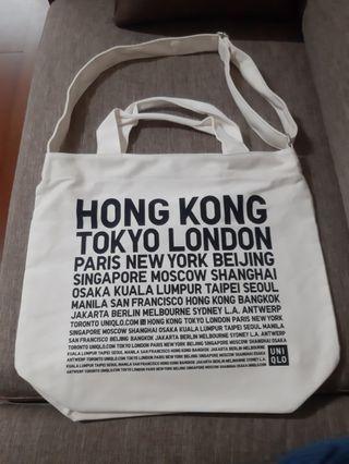 🚚 全新白 兩用提袋 可肩背 手提 側背包 斜背包 購物袋 書包