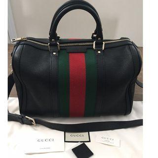 88ad96f3c80 Authentic Gucci Vintage Web Boston Bag - MINT condition!