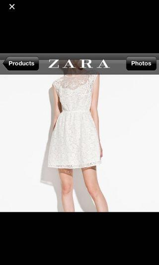 4f2fb1b7754 Authentic Zara White Lace Dress