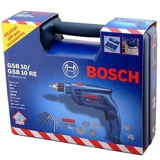 FREE DELIVERY - BOSCH IMPACT DRILL GSB 10 RE Set