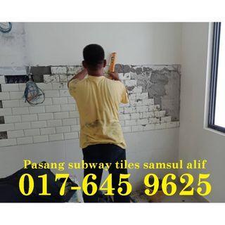 Cantikkan dapur anda dengan subway tiles samsul alif 017-645 9625