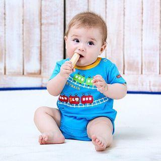 🚚 男童寶寶短袖包屁衣