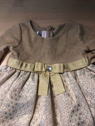 Toddler gold dress