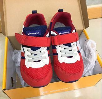 「撿便宜」日本MoonStar月星 透氣機能童鞋(17號)三重自取