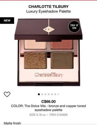 Charlotte Tilbury The Dolce Vita Luxury Pallet
