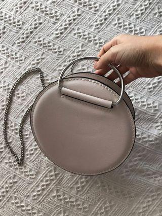 Zara round mini chain bag
