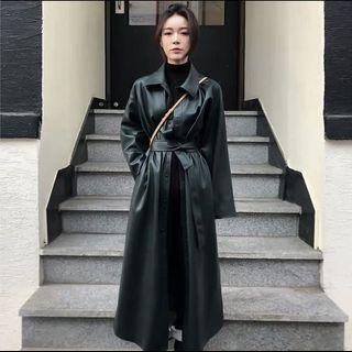 長版皮外套