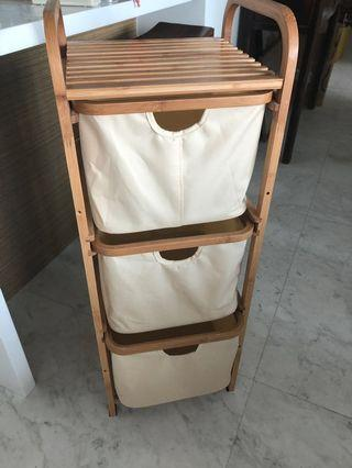 Storage rack with 3 drawers