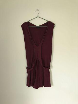 🚚 日本東京購回Sisley義大利製上衣背心酒紅深紫
