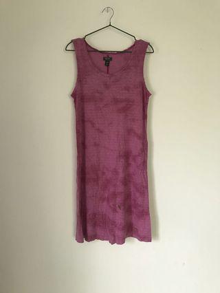 加拿大Roots粉色渲染休閒洋裝/長版背心上衣