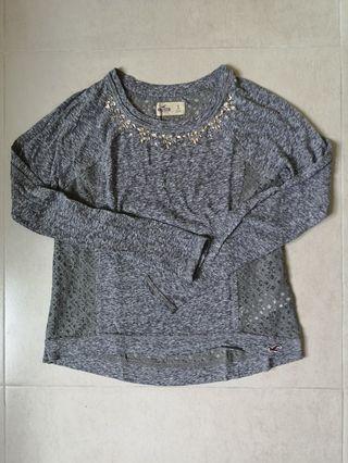 九成新 Hollister 灰色衫