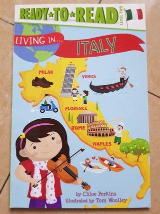 Buku Cerita Anak. Living in Italy. Ready to read level 2. Reading