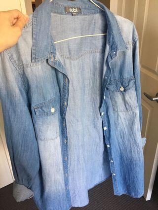 Rubi denim wash shirt