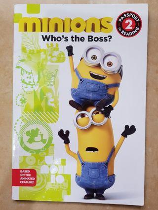 Buku Cerita Despicable Me Minion. Who's the Boss. Reading Level 2