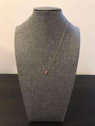 Pink Tear Drop Necklace