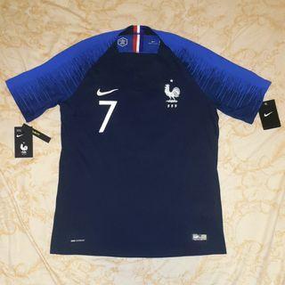 2018 世界盃 法國 主場 球員版 中碼 Nike World Cup France Griezmann Size M