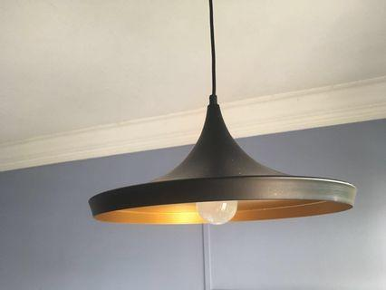 Used UFO shape pendent light comes with warm white LED bulb