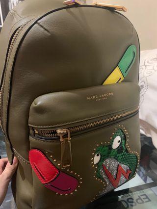 Marc Jacobs Verhoeven Biker Backpack Army Green Bag 書包背囊