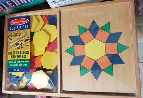🚚 Melissa & Doug Pattern blocks and boards #EndGameYourExcess