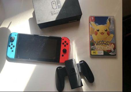 Nintendo switch with Pokémon let's go Pikachu