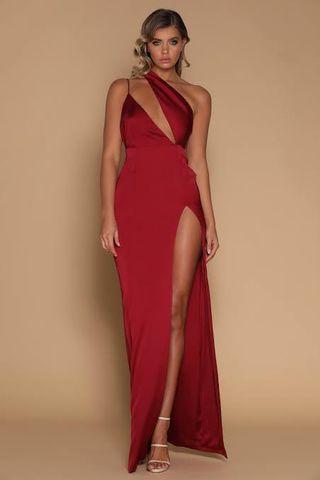 Meshki Red silk dress