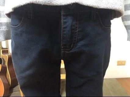 🚚 Giodano 深藍修身長褲