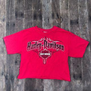 Vintage Harley Davidson crop top