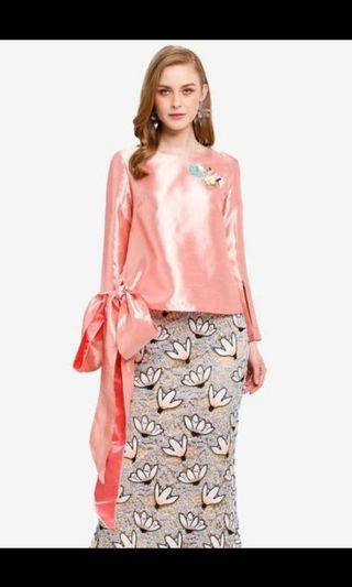 Lubna Tied Knot Tops Peach