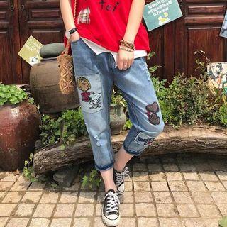 Snoopy Boyfriend Jeans
