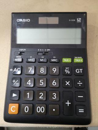 Casio 12digit D-120B calculator kalkulator original big size