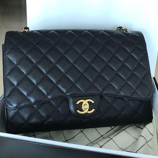 Chanel Classic Double Flap Bag Maxi Caviar series 16