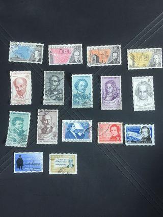 外國郵票—著名人物2